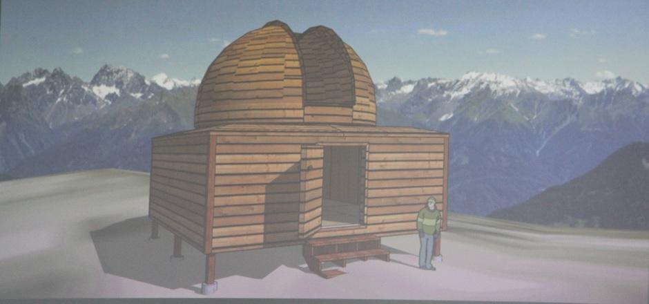 Ab dem Sommer soll die kleine Sternwarte am Krahberg in Betrieb gehen.