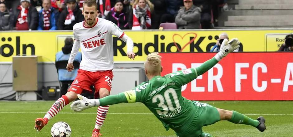 Dominick Drexler brachte Köln früh in Führung.
