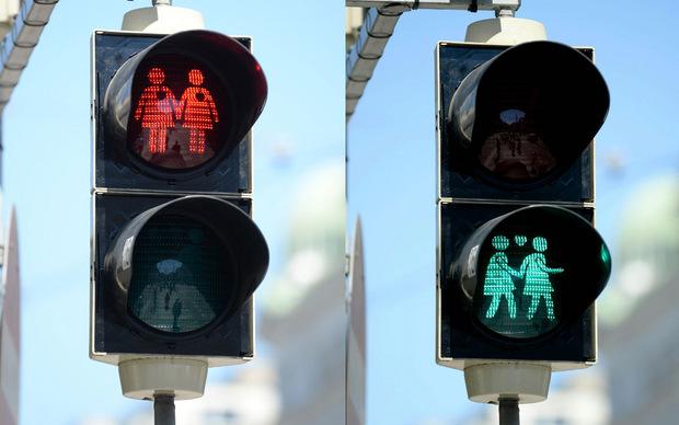 Die homosexuellen Ampelpärchen haben viele Anhänger.