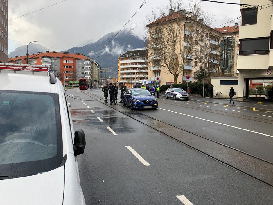 Zu dem Unfall kam es am Vormittag in der Amraser Straße.