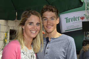 Dornauer mit ihrem Freund, Top-Triathlet Tom Steger.