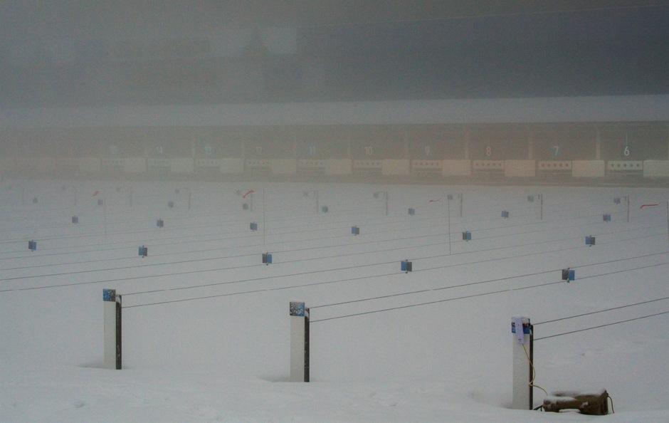 Der Nebel im Schießstadion machte einen fairen Wettkampf unmöglich.