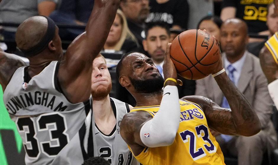 Lakers-Superstar LeBron James war von den Spurs nicht zu stoppen.