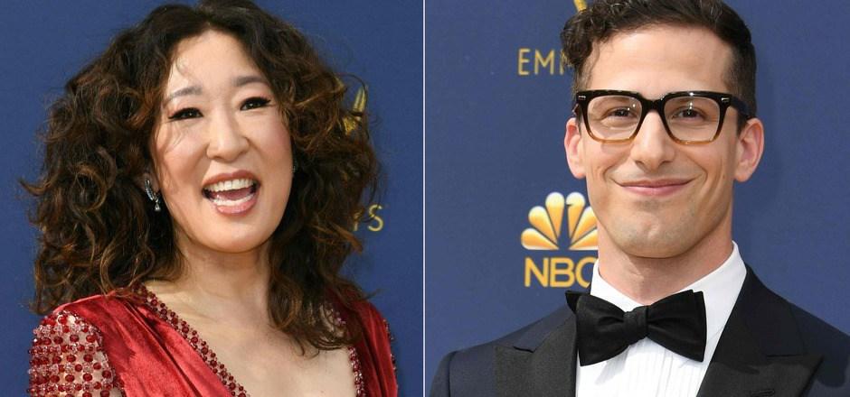 Die Schauspieler Sandra Oh und Andy Samberg moderieren die Golden Globes.