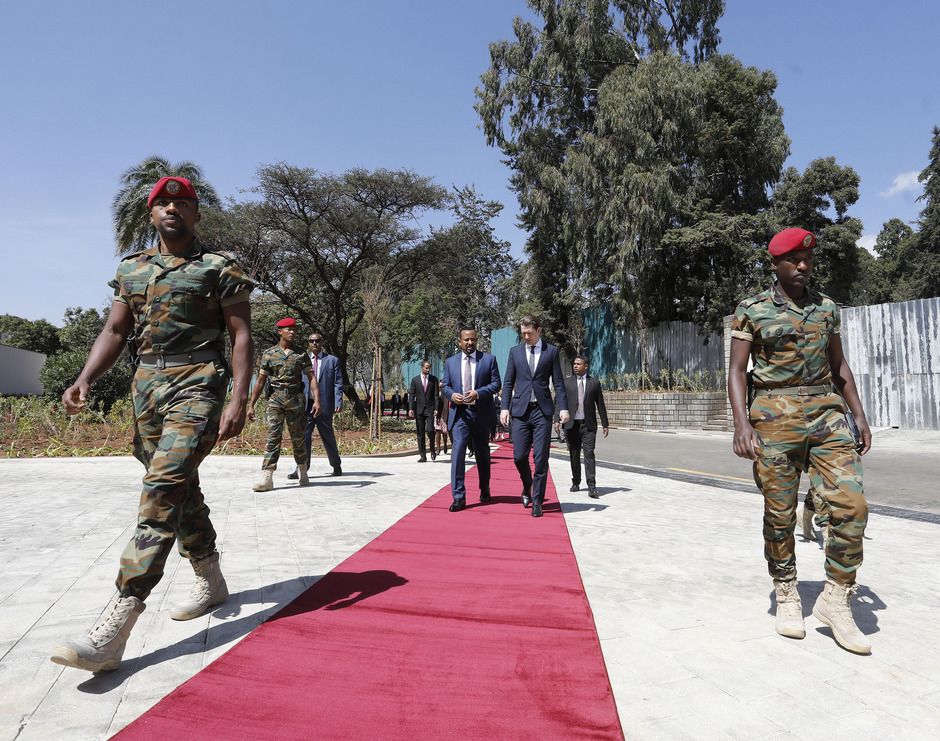 Sebastian Kurz und der äthiopische Premierminister Abiy Ahmed in Addis Abbeba.