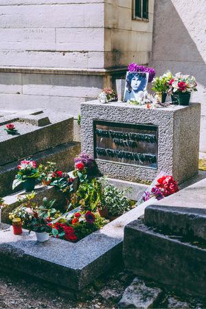 Das Grab von Jim Morrison in Paris.