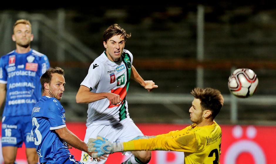 Zwei Tore erzielte Albert Vallci im Cup-Achtelfinale in Hartberg, dennoch musste sich der FC Wacker 3:4 geschlagen geben.