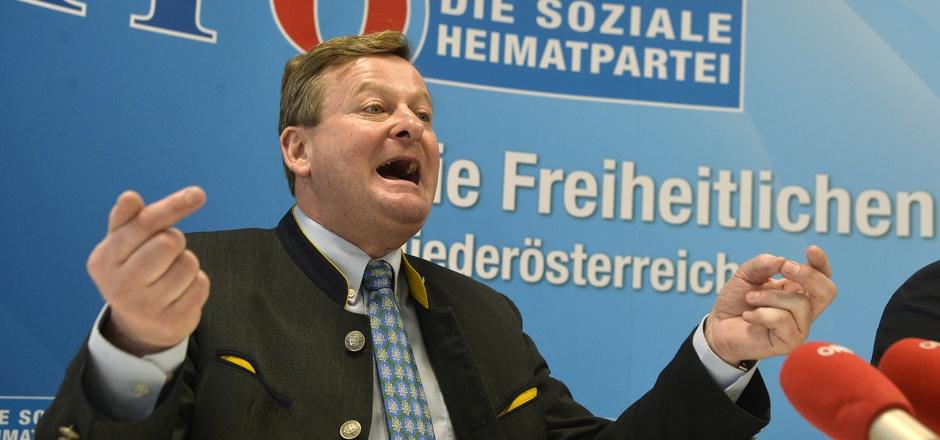 Der niederösterreichische Asyllandesrat Gottfried Waldhäusl (FPÖ).