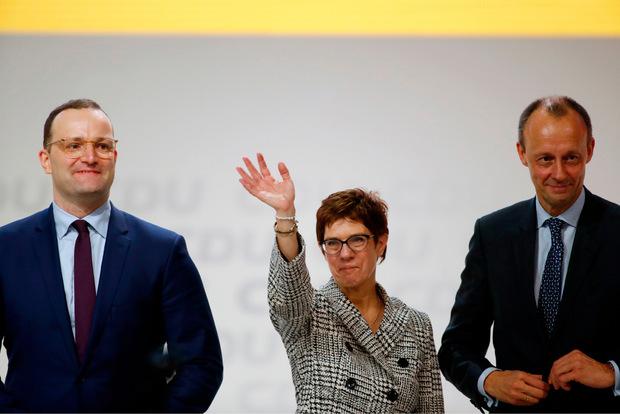 Die Siegerin und die Verlierer riefen die CDU nach der Abstimmung einhellig zur Geschlossenheit auf.