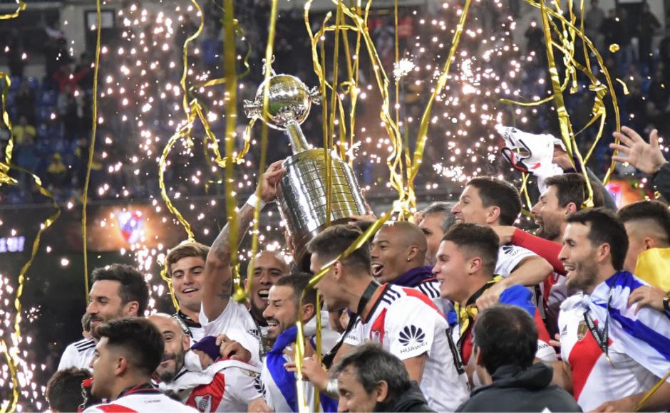 Im Glückstaumel: Das Team von River Plate.