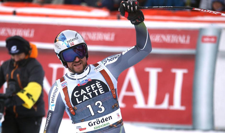 Norwegens Speed-Ass Aksel Lund Svindal durfte im Ziel wieder einmal jubeln.