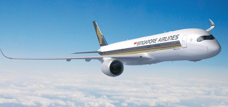 Der Airbus A350 braucht für die 15.300 Kilometer je nach Windverhältnissen etwa 17 Stunden.