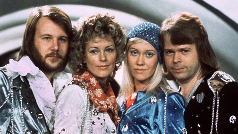 ABBA 1974 beim Grand Prix de la Chanson.