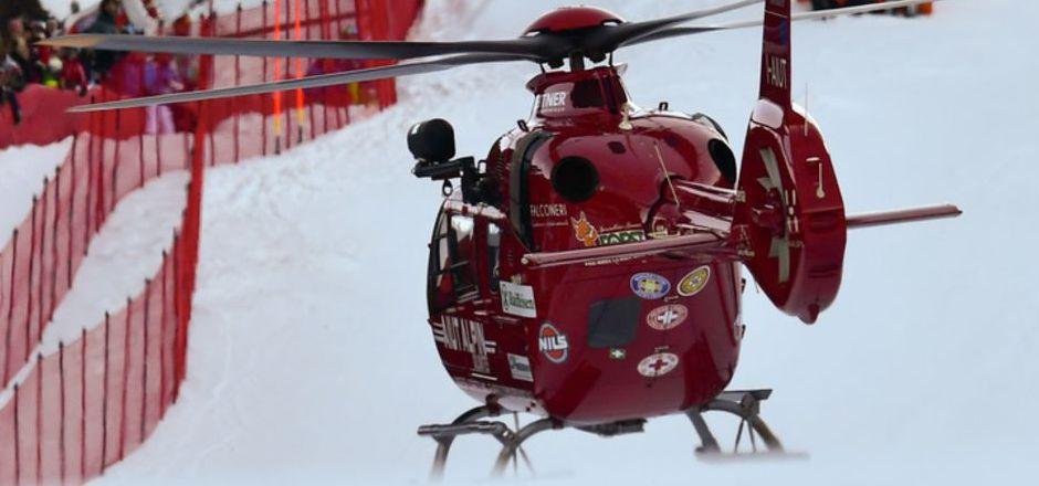 Marc Gisin musste in Gröden mit dem Hubschrauber abtransportiert werden.