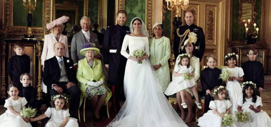 Das offizielle Familien-Hochzeitsfoto: Da hatte Meghan Markle die Kritiker schon längst überzeugt.