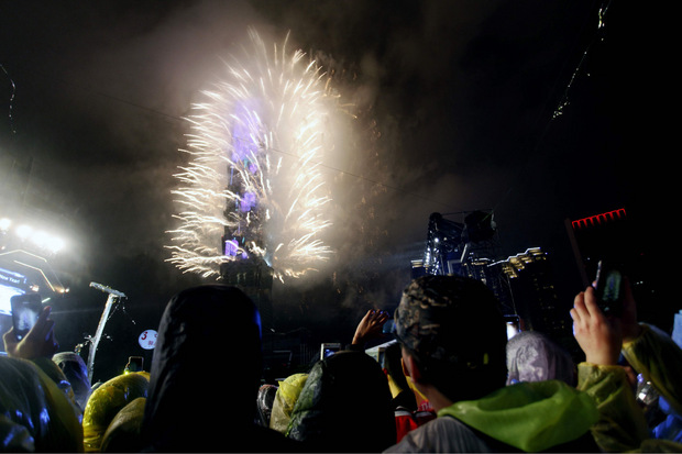Auch in Taipeh wurde 2019 mit einem Feuerwerk begrüßt.
