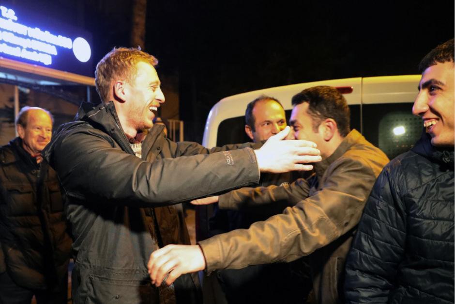 Erleichtert gab sich der Journalist Max Zirngast nach seiner Freilassung an Heiligabend.