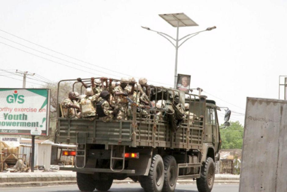 Nigerianische Soldaten in Maiduguri.
