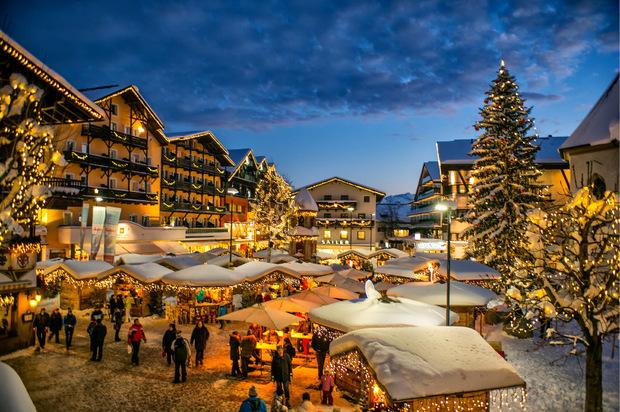 Am Dreikönigstag ist der Weihnachtsmarkt in Seefeld noch geöffnet.