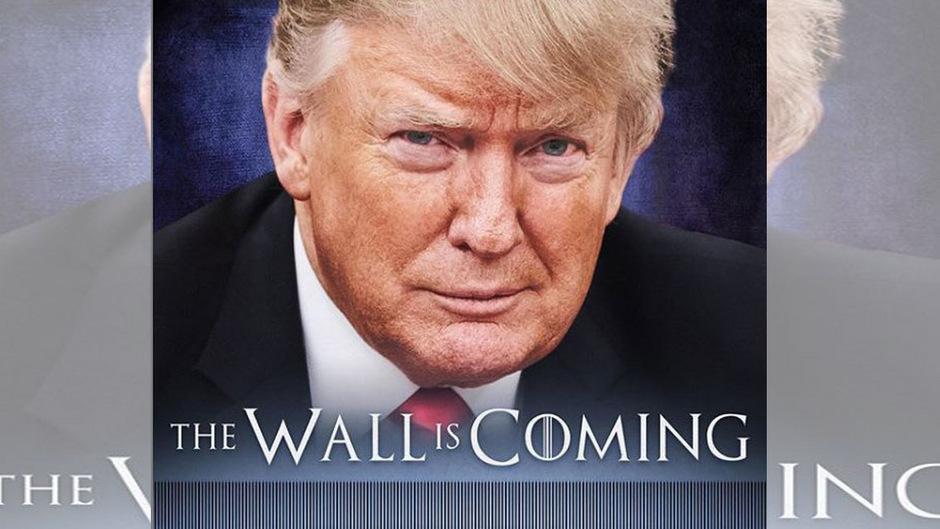 """US-Präsident Donald Trump hat im Streit um die von ihm angestrebte Mauer an der Grenze zu Mexiko erneut auf die Erfolgsserie """"Game of Thrones"""" angespielt."""