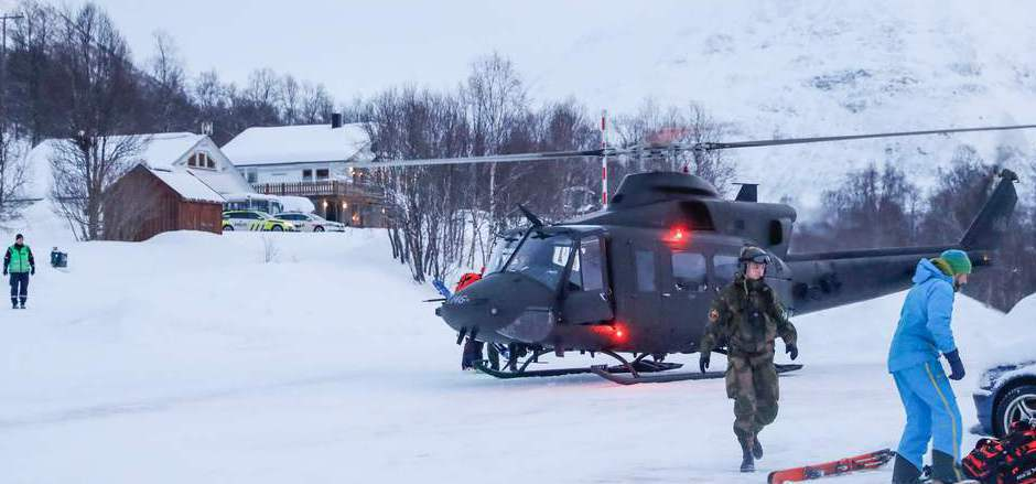 In Tamokdalen nahe Nordkjosbotn wird die Suche nach den Vermissten fortgesetzt.