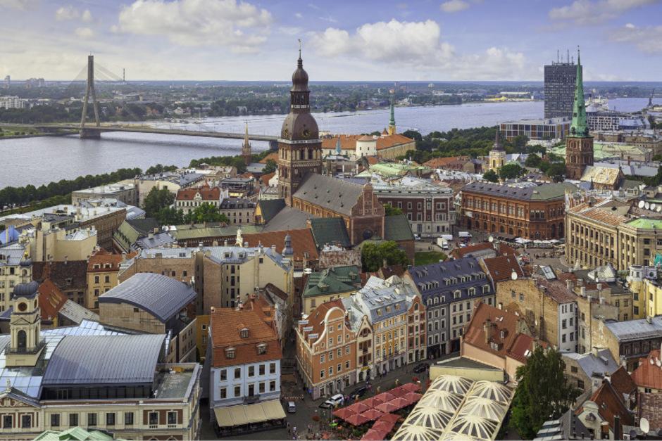 Die lettische Hauptstadt Riga.