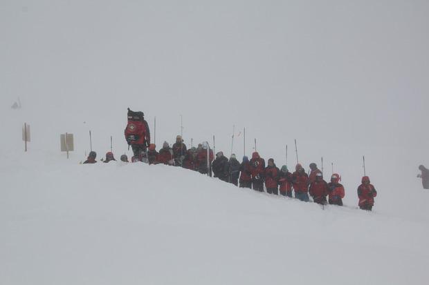 Die Bergrettungs-Ortsstelle Schönwies trainierte gestern die Verschüttetensuche.