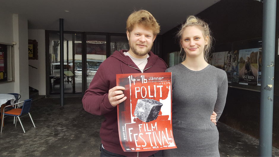 Die neuen Gesichter des PolitFilmFestivals: Daniel Dlouhy und Bettina Lutz starten mit einem Budget von 9000 Euro.