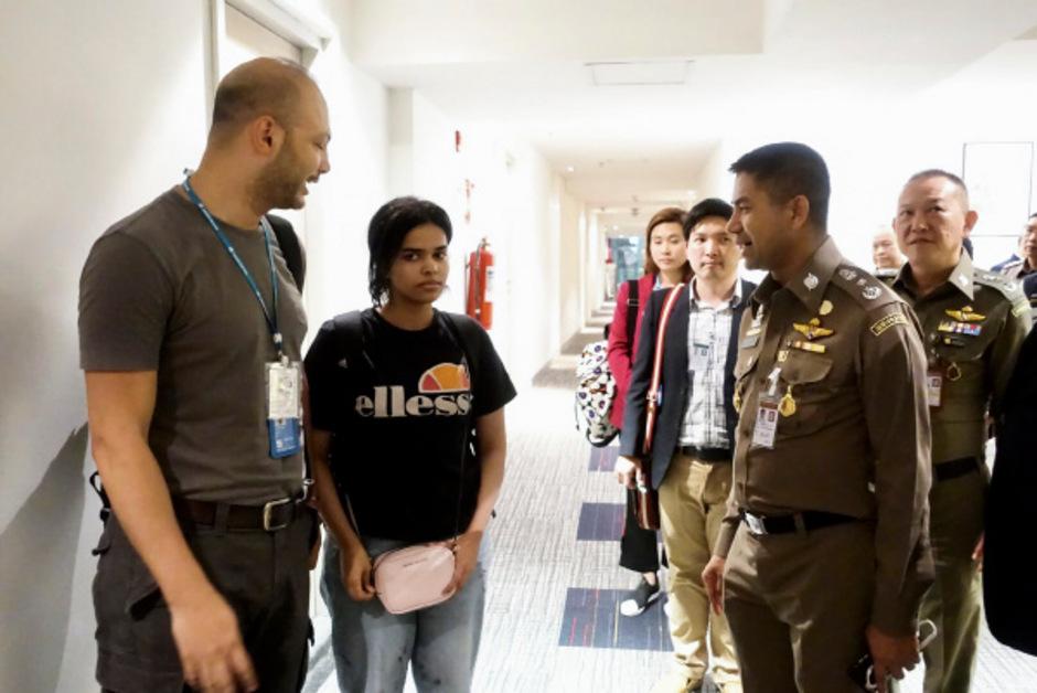 Rahaf Mohammed al-Kunun durfte den Flughafen Bangkok verlassen.