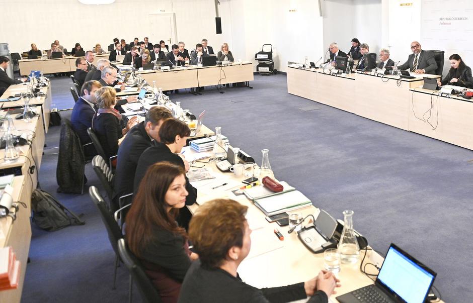 Der Sitzungssal des BVT-U-Ausschusses.