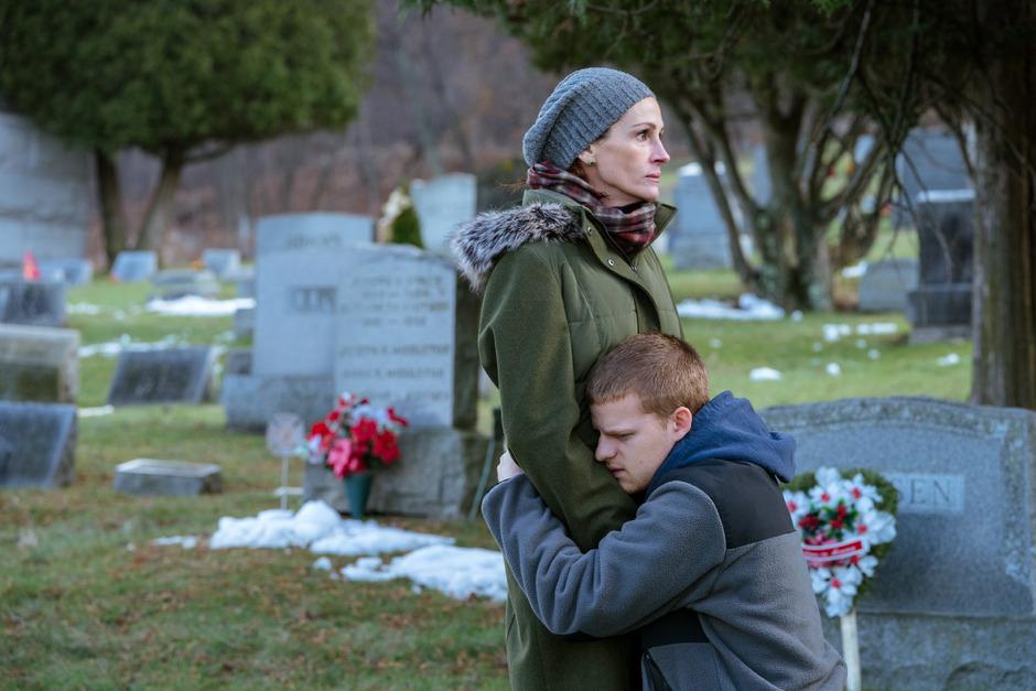 """Ernstes Kino für ein erwachsenes Publikum: Julia Roberts und ihr Film-Sohn Lucas Hedges in """"Ben is back""""."""
