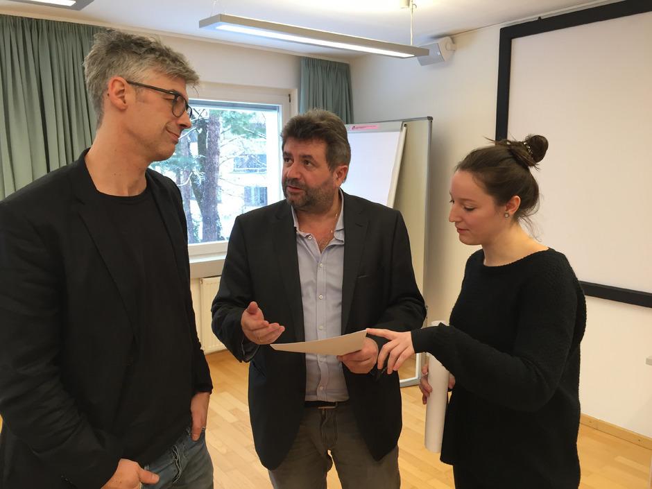 Michael Kerber, Ludwig Plangger, Maria Petersen.