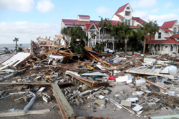 """Vielerorts stand nach Hurrikan """"Michael"""" kein Stein mehr auf dem anderen."""