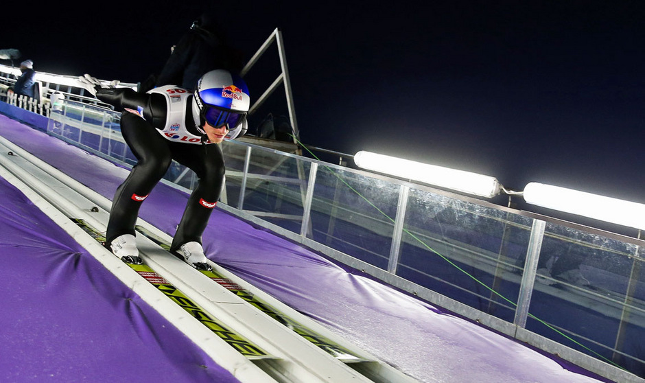 Gregor Schlierenzauer nimmt Anlauf für die Wettkampfphase.
