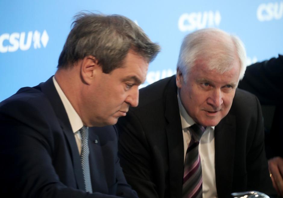 CSU-Vorsitzender Markus Söder und Innenminister Horst Seehofer.