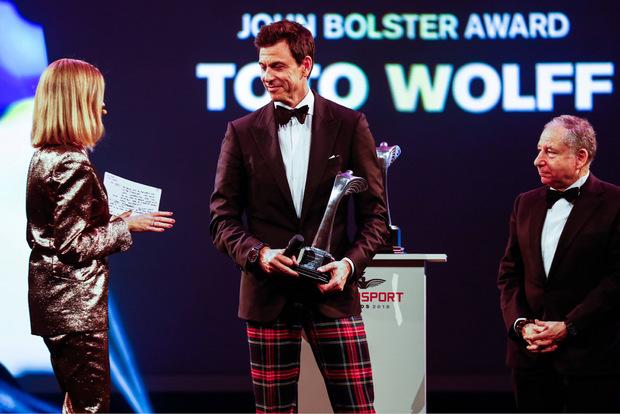 Mercedes-Motorsportchef Toto Wolff wurde mit dem John-Bolster-Award für herausragende technische Leistungen ausgezeichnet.
