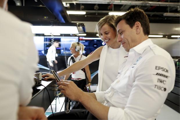 Erfolgreiches Motorsport-Ehepaar: Toto Wolff mit Frau Susie.