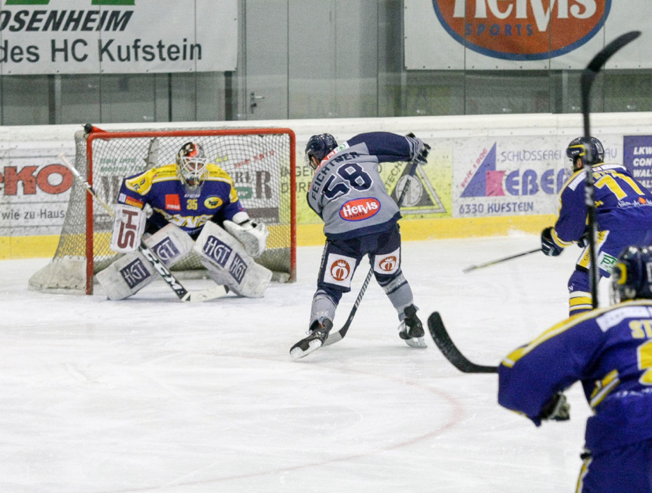 Liga-Topscorer Alexander Feichtner (Kufstein) traf erneut.