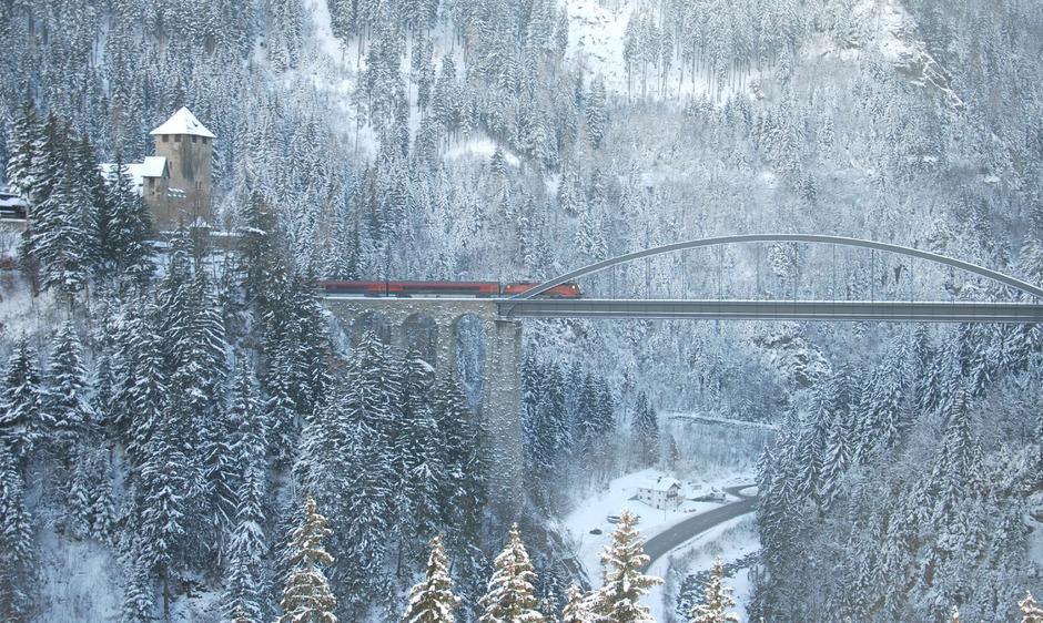 Die Trisannabrücke bei Wiesberg zählt zu den kühnsten Eisenbahn-Bauwerken des 19. Jahrhunderts. Die 1884 eröffnete Brücke ringt Experten heute noch Respekt ab.