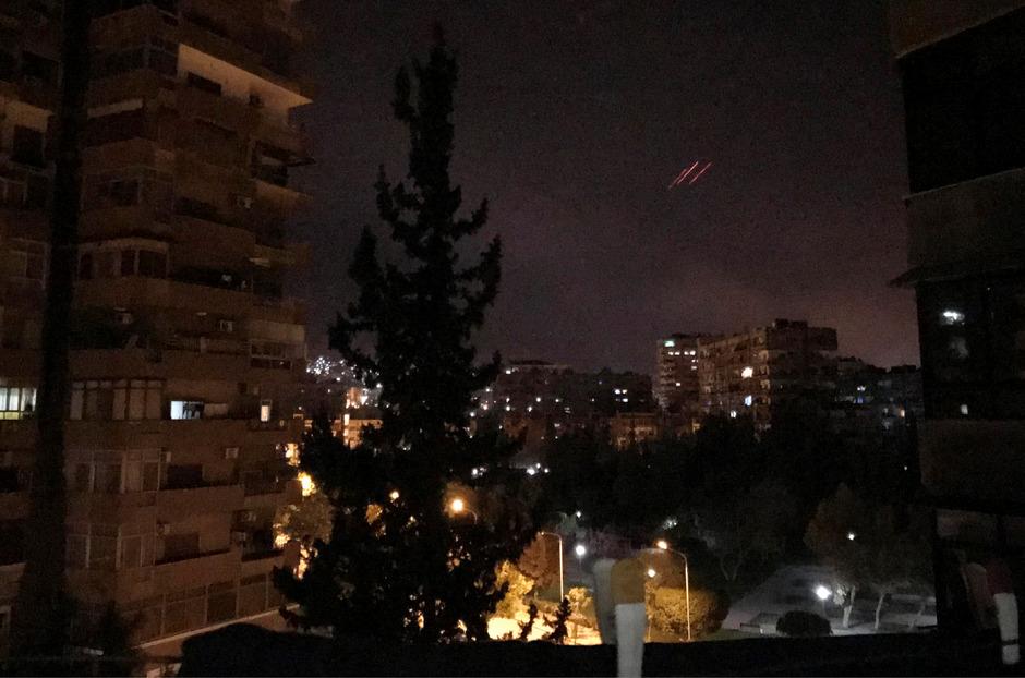 Die syrische Flugabwehr war aktiv.