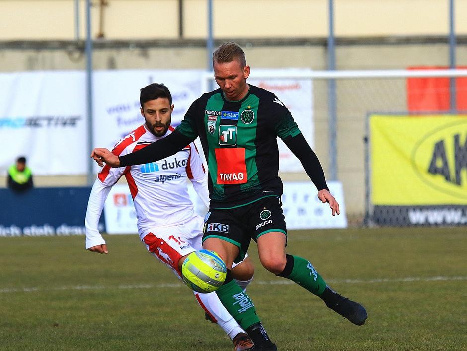 Auch Martin Harrer konnte die klare Niederlage des FC Wacker in Bozen nicht verhindern.