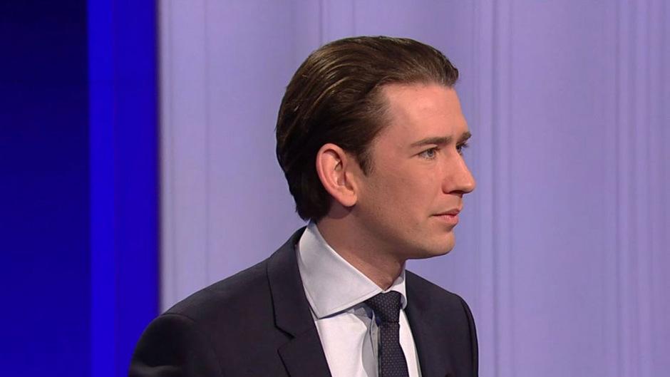 Österreichs Bundeskanzler Sebastian Kurz (ÖVP) in der ORF-Pressestunde.