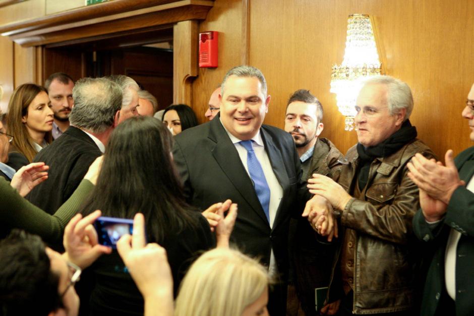 Verteidigungsminister Panos Kammenos ist aus Protest zurückgetreten.