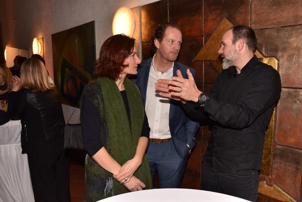 Zum Aroma/Kaffee-Austausch kam es zwischen Evelyn Deutsch-Grasl und Thomas Grasl mit Christoph Valier.