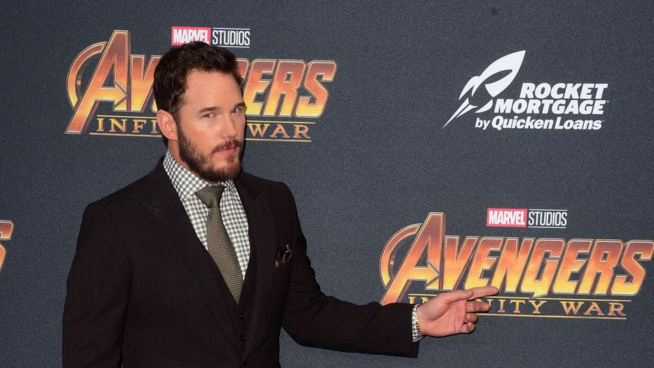 """Chris Pratt bei der premier von """"Avengers: Infinity War""""."""
