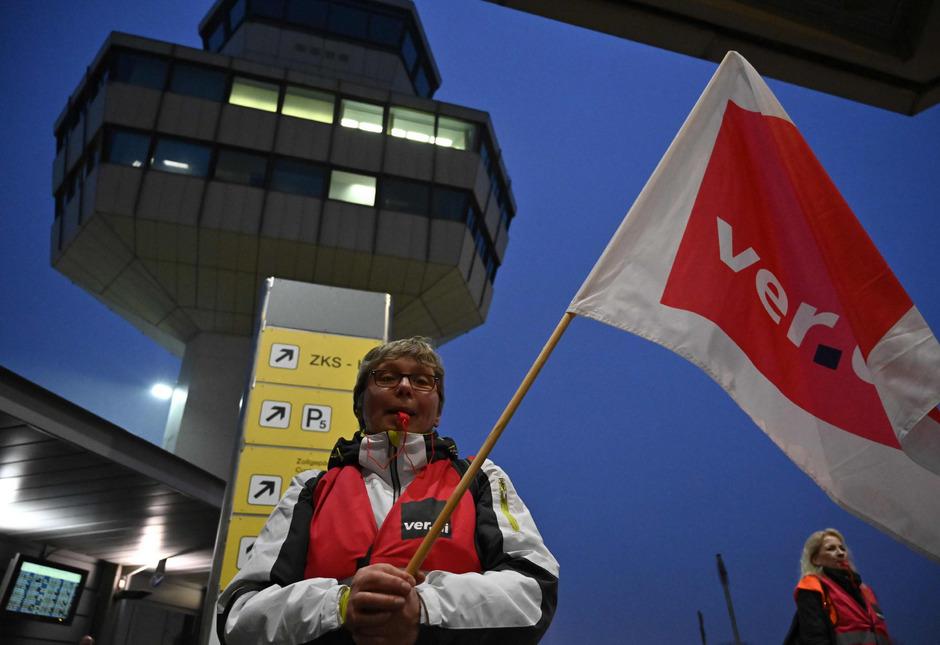 Seit der Nacht wird am Frankfurter Flughafen gestreikt.