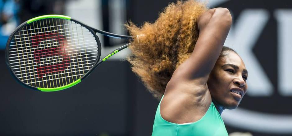 Serena Williams spielte zum Auftakt der Australian Open groß auf.