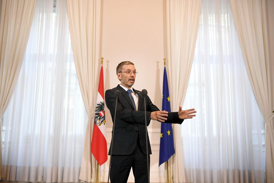 Innenminister Herbert Kickl (FPÖ) am Mittwoch vor dem Ministerrat.