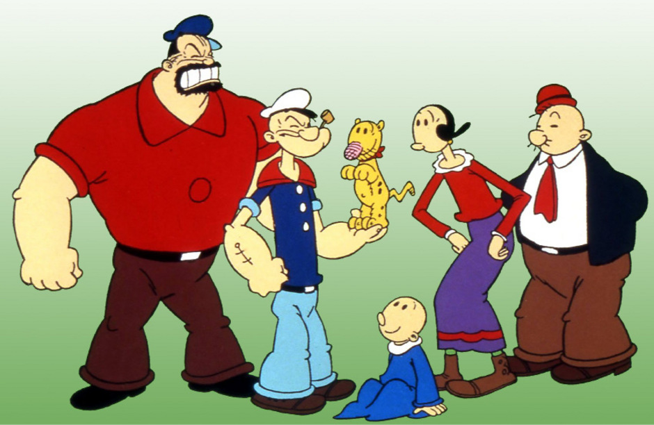 """Ursprünglich war Popeye nur als Nebenfigur im Cartoon gedacht. Doch er war schnell der Star der Reihe """"Thimble Theatre""""."""