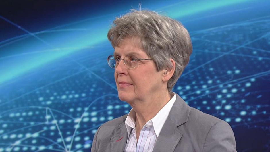Die britische Politologin Melanie Sully im ORF-Studio.